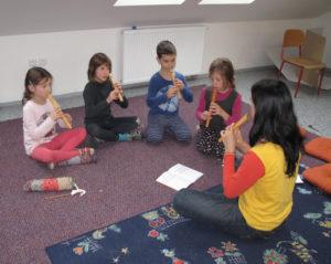 Společné hraní na pentatonické flétny